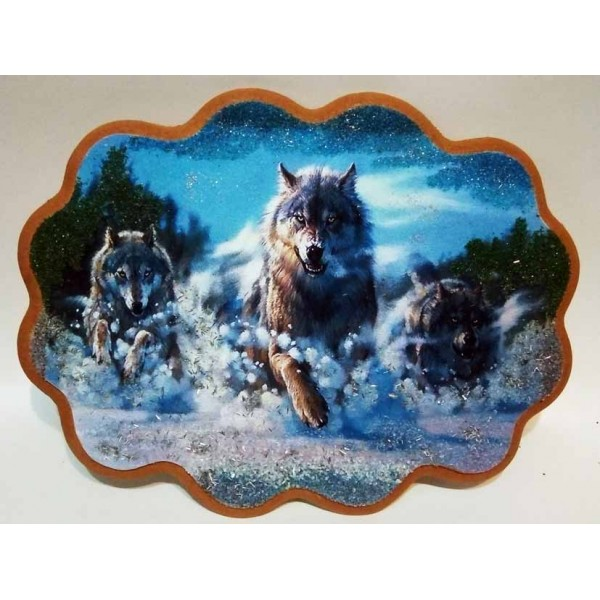 """Ажурное панно """"Бегущие волки"""""""