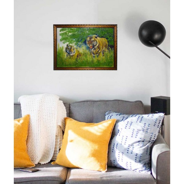 """Картина """"Два тигра"""""""