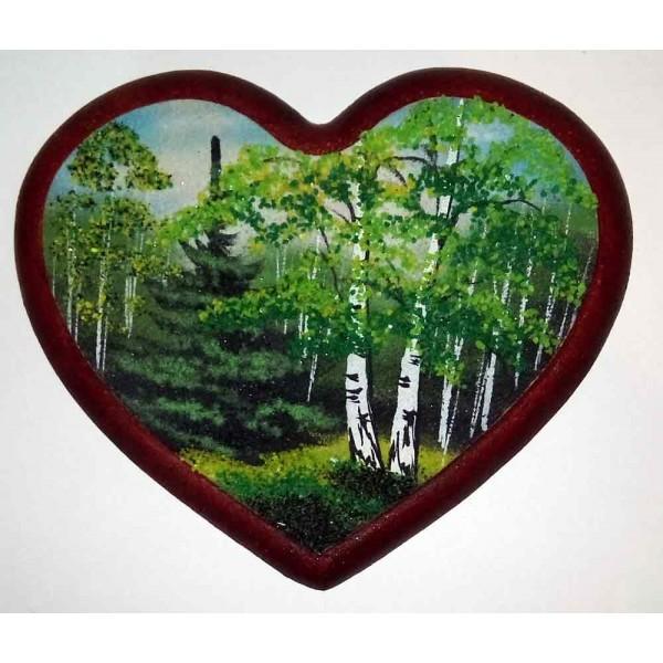 """Panel heart """"Summer Forest"""""""