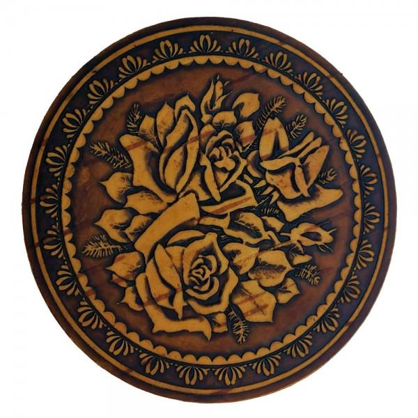 """Зеркало круглое """"Розы"""" без ручки"""