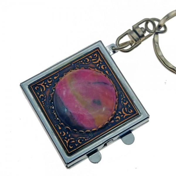 Брелок для ключей с родонитом