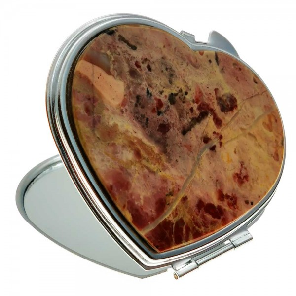"""Pocket mirror """"Heart"""" with an overlay from jasper"""